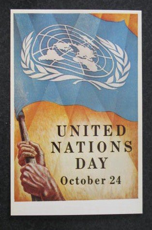 United Nations Day postcard