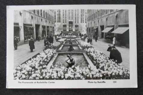 The Promenade at Rockefeller Center postcard