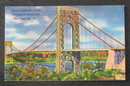 George Washington Bridge, Palisades in Background postcard