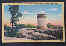 Range Finder Memorial, Fryeburg ME postcard