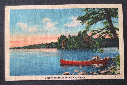 Greetings from Fryeburg ME postcard