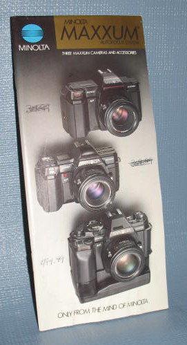 Minolta Maxxum Autofocus System sales brochure