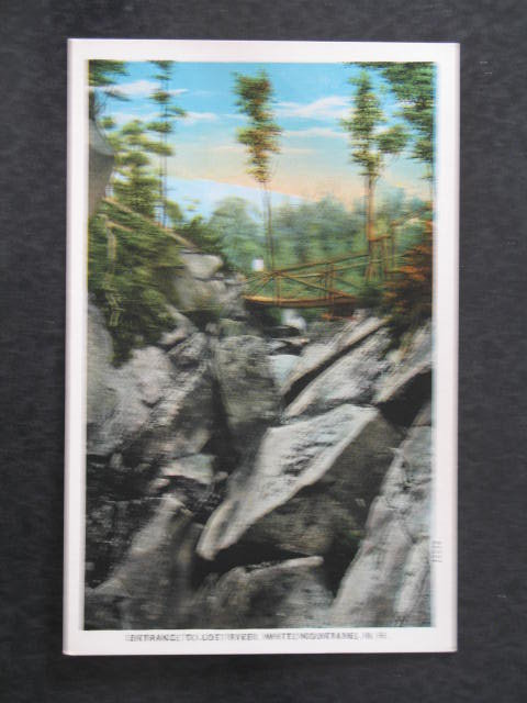 Entrance to Lost River, White Mountains, NH postcard