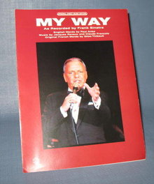My Way as recorded by Frank Sinatra sheet music