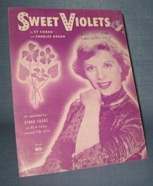 Dinah Shore : Sweet Violets sheet music
