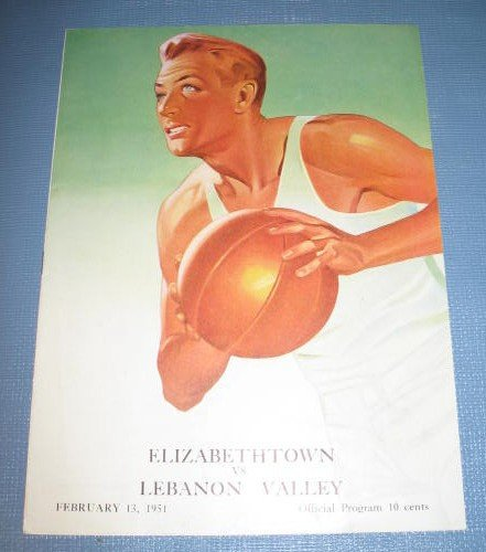 Elizabethtown vs. Lebanon Valley February 13, 1951 basketball program