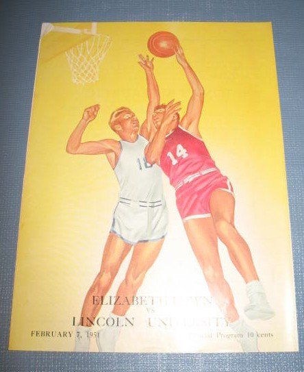 Elizabethtown vs. Lincoln University  February 7, 1951 basketball program