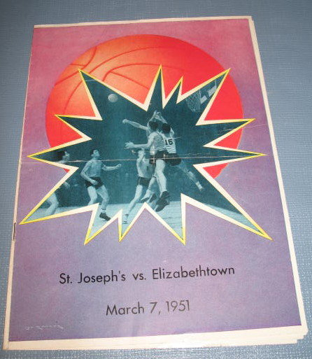 St. Joseph's vs. Elizabethtown  March 7, 1951 basketball program
