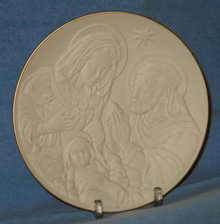 Lenox Nativity Vignettes : The Holy Family plate
