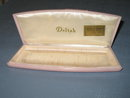 Deltah pink plastic jewelry case