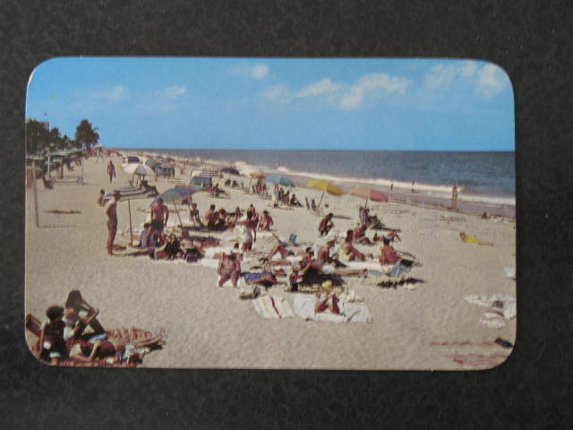 Sun and surf attracts many to the Florida beaches  postcard