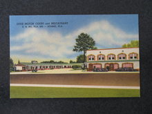 Dixie Motor Court and Restaurant, Starke, Florida postcard