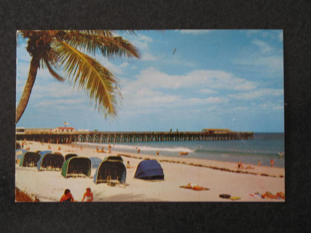 The beautiful Beach and Pier, Palm Beach, Florida postcard