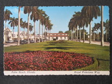 Royal Poinciana Way, Palm Beach, Florida postcard