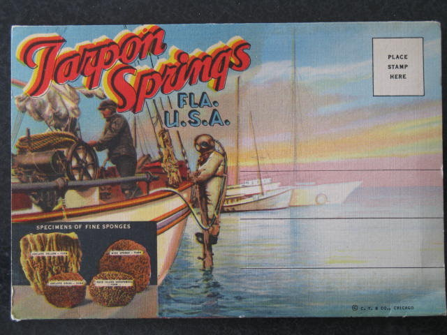 Tarpon Springs, Florida postcard packet