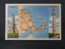 Boston to Provincetown MA map postcard
