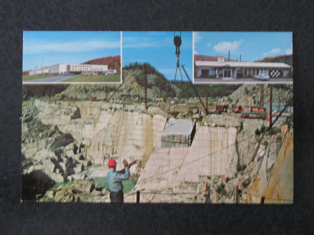 Rock of Ages Granite Quarry, Barre VT postcard