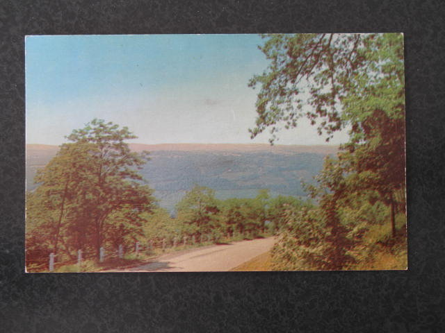 Mountain Road Among the Green Hills of Somerset County, PA  postcard