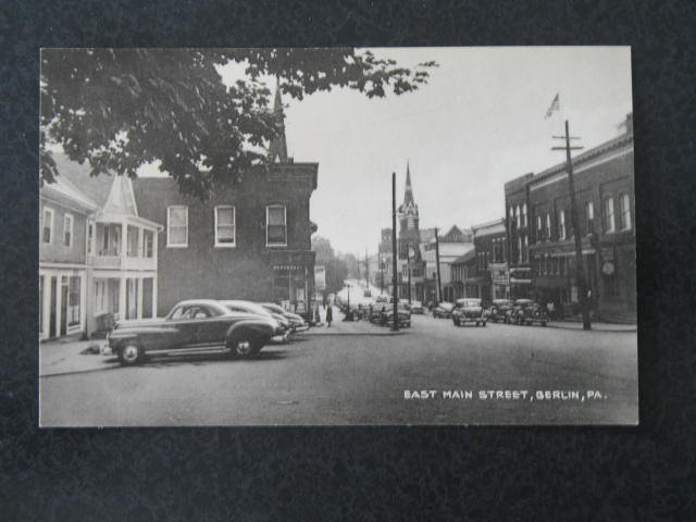 East Main Street, Berlin PA postcard