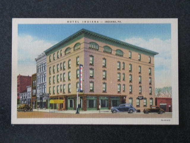 Hotel Indiana, Indiana,  PA postcard