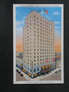 Hotel Abraham Lincoln, Reading,  PA postcard