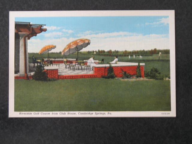 Riverside Golf Course, Cambridge Springs,  PA postcard