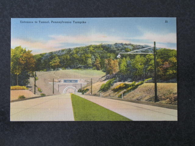 Entrance to Tunnel Pennsylvania Turnpike,  PA postcard