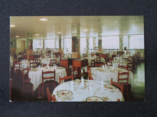 Flanders Hotel dining room, Atlantic City NJ  postcard
