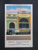 Kent's Restaurant - Uptown, Atlantic City NJ  postcard