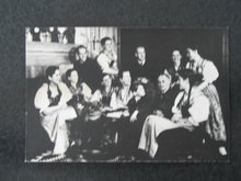 Trapp Family Singers in their home at Stowe VT postcard