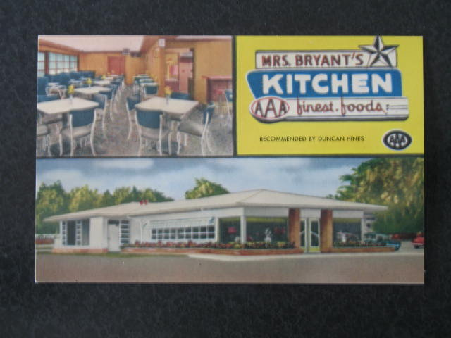 Mrs. Bryant's Kitchen, Statesboro, GA,  postcard