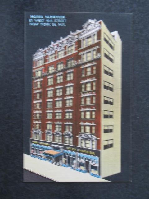 Hotel Schuyler, New York, NY,  postcard