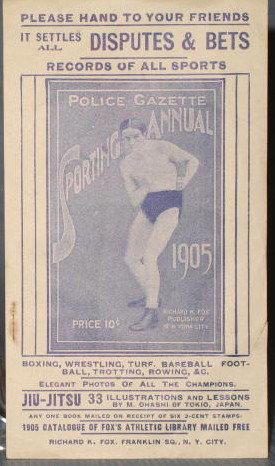 Police Gazette Sporting Annual advertising handbill