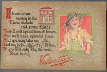 Scamp Valentine postcard