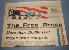 July 1 & 2 Quakertown (PA) Free Press (s) - Bicentennial Wagon Train issues