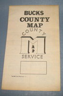 Bucks County PA wall map