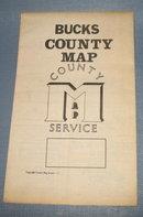 Bucks County PA wall map