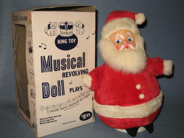King Toy # 899 Musical Revolving Santa Claus