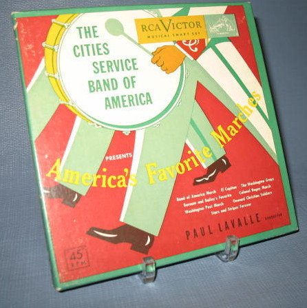 45 RPM Boxed Set : Paul Lavalle conducting The Cities Service Band of America presents