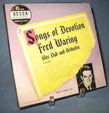 45 RPM Boxed Set : Fred Waring Songs of Devotion