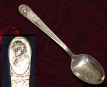 Wm. Rogers silver plate Thomas Jefferson presidential spoon