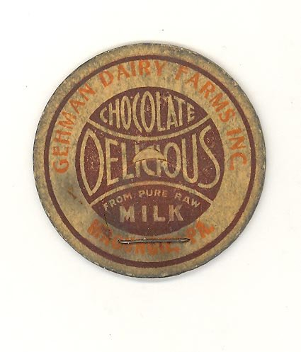 Gehman Dairy Farms Inc., Macungie PA chocolate milk bottle cap
