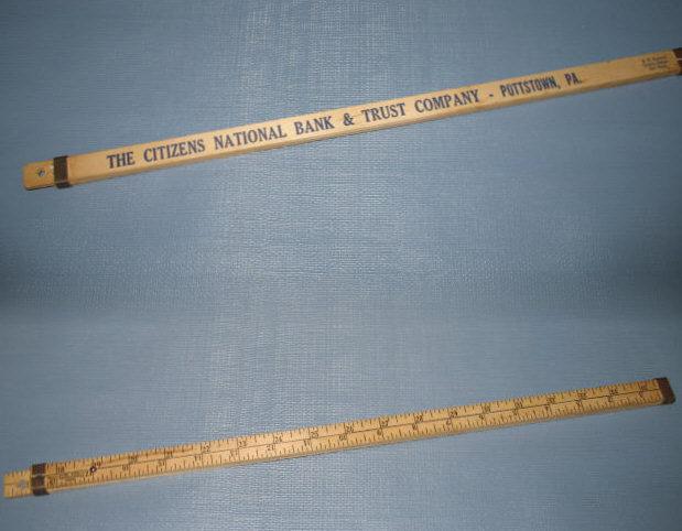 Citizens National Bank, Pottstown PA 36 inch ruler