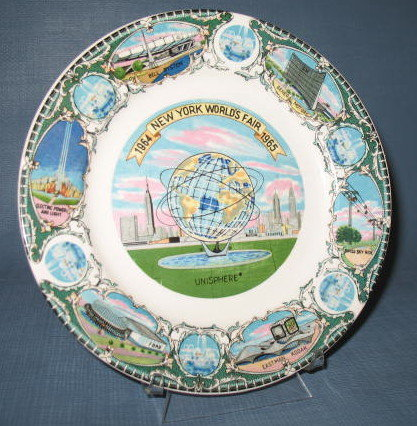 1964-1965 New York World's Fair souvenir plate