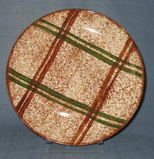 Blue Ridge (Southern) Pottery Rustic Plaid dinner plate