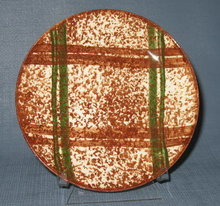 Blue Ridge (Southern) Pottery Rustic Plaid bread plate