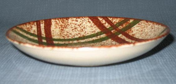 Blue Ridge (Southern) Pottery Rustic Plaid fruit/dessert bowl