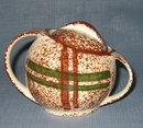 Blue Ridge (Southern) Pottery Rustic Plaid lidded sugar bowl