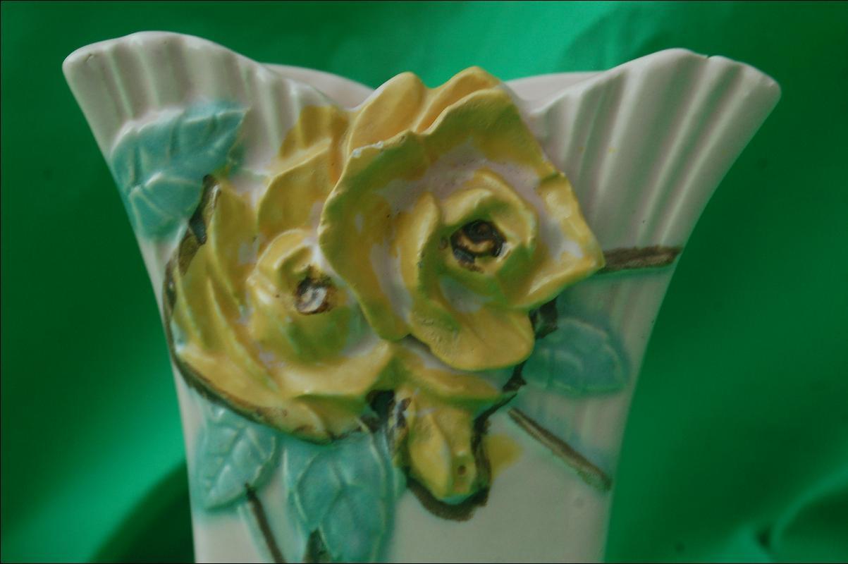 McCoy Wild Rose Vase 1950