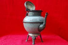 1800's Footed Graniteware and Pewter Coffee Pot